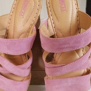 Born Pink Suede Sandals